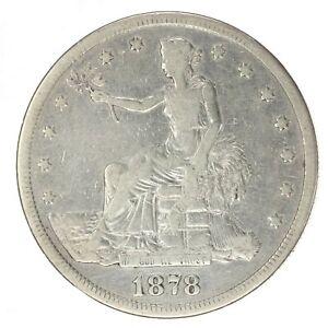1878-S Trade Silver Dollar ~ Fine+ Details ~ Nice Filler