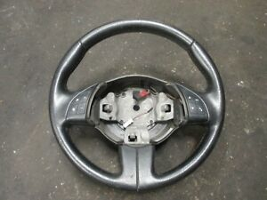 FIAT 500 - MULTI FUNCTION STEERING WHEEL IN BLACK LEATHER - 735454686
