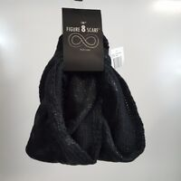 D&Y Infinity Scarf Black Metallic Figure 8 Cowl Eternity Scarf Sparkle New