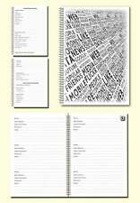 Internet Password Organiser A5 Book, Cover image black text, Gift