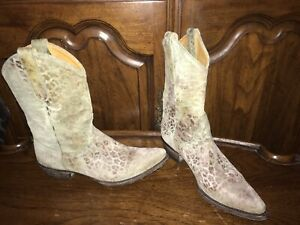 OLD GRINGO Leopardito turquiose Leather boots Newport distressed Boots Size 7.5B