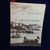 Salon Del Castillo Vintage 1952 Original Restaurant Menu