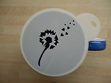LASER CUT Dandelion design caffè e Craft Stencil
