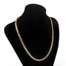 Nuevo Oro Lleno pesado de acero inoxidable Curb Enlace Cadena Collar para hombres 7 mm