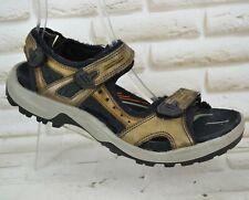 ECCO RECEPTOR Mens Brown Leather Sandals Outdoor Sport Shoes Size 11.5 UK 46 EU