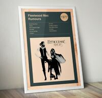 Fleetwood Mac Print, Rumours album Print, Rock Band Poster