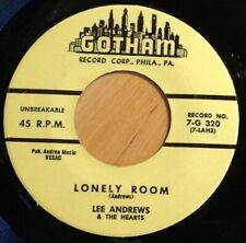 Lee Andrews & The Hearts ‎45 Lonely Room / Leona  NM  Gotham #320