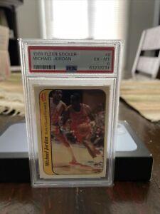 1986-87 Fleer Michael Jordan #8 Rookie Card/Sticker PSA 6 Sharp Low BIN