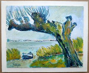 """Kleinfeldt, Franz Walter (1919 Wolgast -2008 Wolgast) """"Alte Weide"""" Usedom Ostsee"""