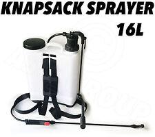 16L Knapsack Backpack Sprayer with Lance Pump Action Garden Weedkiller Water etc