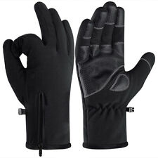 Sports Cycling Motorcycle Bike Touch Screen Gloves Thermal Warm Gift Unisex