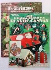 1981 NEEDLEWORKS *2 Leaflets* CHRISTMAS PLASTIC CANVAS PROJECTS