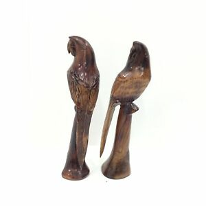 Wooden Parrot Figurine / Statue Large Glossy Finish #404