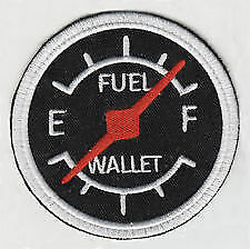 Speedo/fuel/wallet   ---  embroidered cloth patch.                     A030303