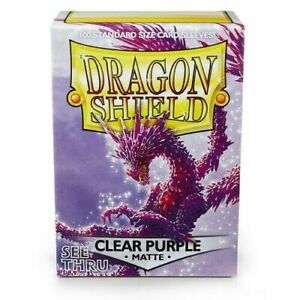 Matte Clear Purple 100 ct Dragon Shield Sleeves Standard Size 10% OFF 2+