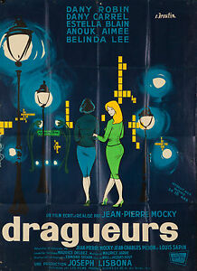 Originale Vintage Poster Dragueurs Broutin Film Francese The Cacciatori 1959 Art