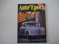 AUTO D'EPOCA 2/1991 FIAT 1100/103/BSA SCOUT TEN/FERRARI 312 P/512 S/STORIA SPA
