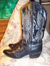 TONY LAMA VINTAGE leather & genuine exotic iguana lizard western boots 5.5B XLNT