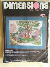 Dimensions Cross Stitch Kit Fairfax Inn Charming Country House Scene Horse NIP