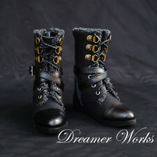 Mimi Collection MSD Doc 1/3 BJD Obitsu Doll Shoe Black Punk Gothic Warrior BOOTs