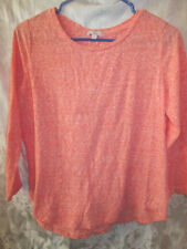 Coral and white casual long sleeve shirt from GAP-ladies small