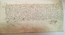 1610 French Mystery Document on vellum