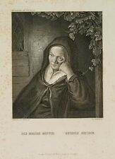 "W. FRENCH (*1815), n. OSTADE (*1610), ""Des Malers Mutter"", um 1875, Stahlstich"