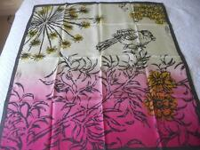 Stunning Spencer & Rutherford Pure Silk Scarf Square Stylised Bird Branch Flower