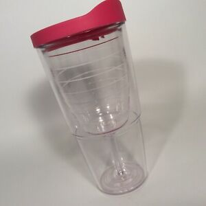 TERVIS Hot Pink Wine Glass 16 oz Tumbler Travel Mug w/ 24 oz Sliding Lock Lid