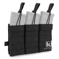 KRYDEX Triple 5.56 .223 Open Top Mag Pouch Modular Magazine Holster MOLLE Black