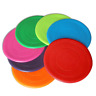 Soft Dog Frisbee Toy Silicone Pet Race Training Throwing Flying Disc Toys 18cm
