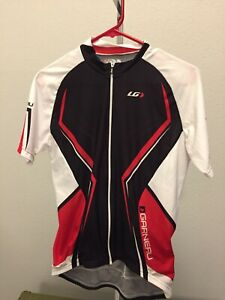 Louis Garneau: Short Sleeve Cycling Full Zip Jersey: Men's Medium