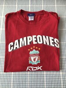Liverpool Champions League 2005 Football Rare Reebok Official T Shirt Large Used