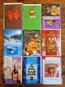 Hochwertige Grußkarten 9er SET Weihnachten Karten mit Umschlägen Silvester WS02
