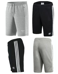 Mens Adidas Originals 3 Stripes Outline Cotton Shorts Casual Summer Fleece Short