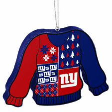 RARE NEW YORK NY GIANTS UGLY SWEATER CHRISTMAS TREE FOAM ORNAMENT NFL TEAM