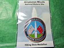 MINUTEMAN MISSILE NAT'L HISTORIC SITE HIKING MEDALLION SOUTH DAKOTA SOUVENIR-H8