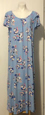 Cw Classics Baby Blue Floral Maxi Lounge Dress Nightgown Women's 1X