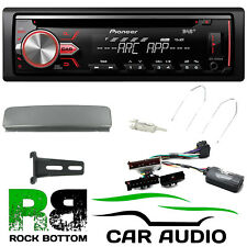 Ford Fiesta 1995 - 2001 Pioneer DAB+ CD MP3 USB Car Stereo & Silver Fascia Kit