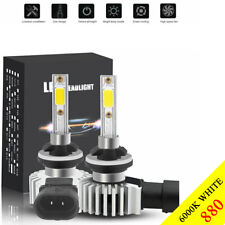 2Pcs 880 881 H27 LED Headlight Bulb Conversion Kit White 6000K Headlamp Lights