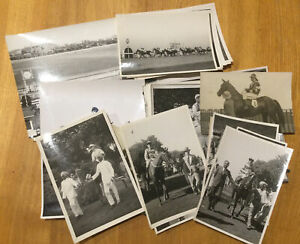 Horseracing  - collection of 52 original photographs, 1920's-'40s. Some Indian.
