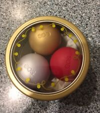 EOS Lip Balm Tin Limited Edition First Snow Fireside Chai Pomegranate Raspberry