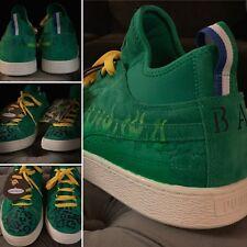 97064e64938ad6 Puma Suede Big Sean Custom Ape Green And Yellow Flame Shoes - One Of A Kind