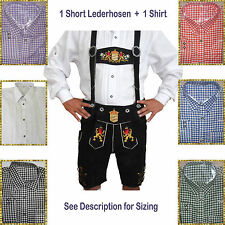Authentic Lederhosen Oktoberfest Trachten German Bavarian Short Package/Set LW58