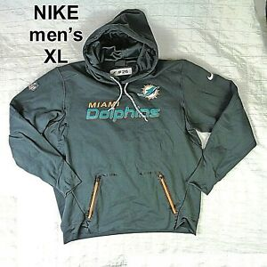 #26 MIAMI DOLPHINS NIKE THROWBACK GAME USED PRACTICE Gray Hoodie Men's Size XL