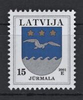 LATVIA 2001 E LATVIJA JURMALA VERY RARE COAT OF ARMS GERBONIS POSTAGE STAMPS MNH