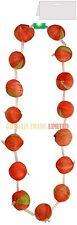Guirlande oignon rouge français cordes collier français unisexe accessoire robe fantaisie