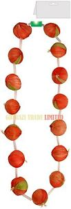 GARLAND RED ONION FRENCH STRINGS NECKLACE FRENCH UNISEX FANCY DRESS ACCESSORY