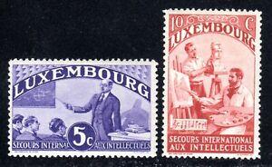 1935 Luxembourg SC# B65A-B65B - Teacher - Sculptor - 2 Different Stamps -  M-H