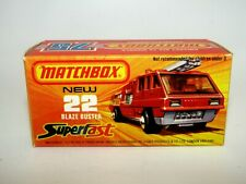 "Matchbox Superfast No 22 Blaze Buster ""Not Recommended"" Empty Box V N Mint RARE"